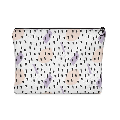 Black Sprinkles Carry All Pouch - Design Prints