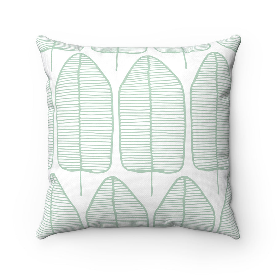 Leafy Spun Polyester Square Pillow Case