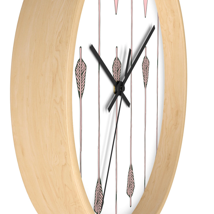 Arrow My Heart Too Wall clock