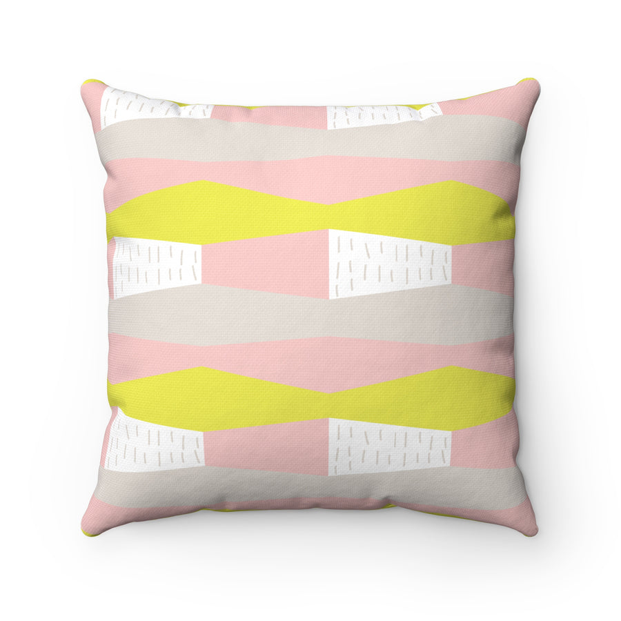 Windows To The Sea Spun Polyester Square Pillow Case