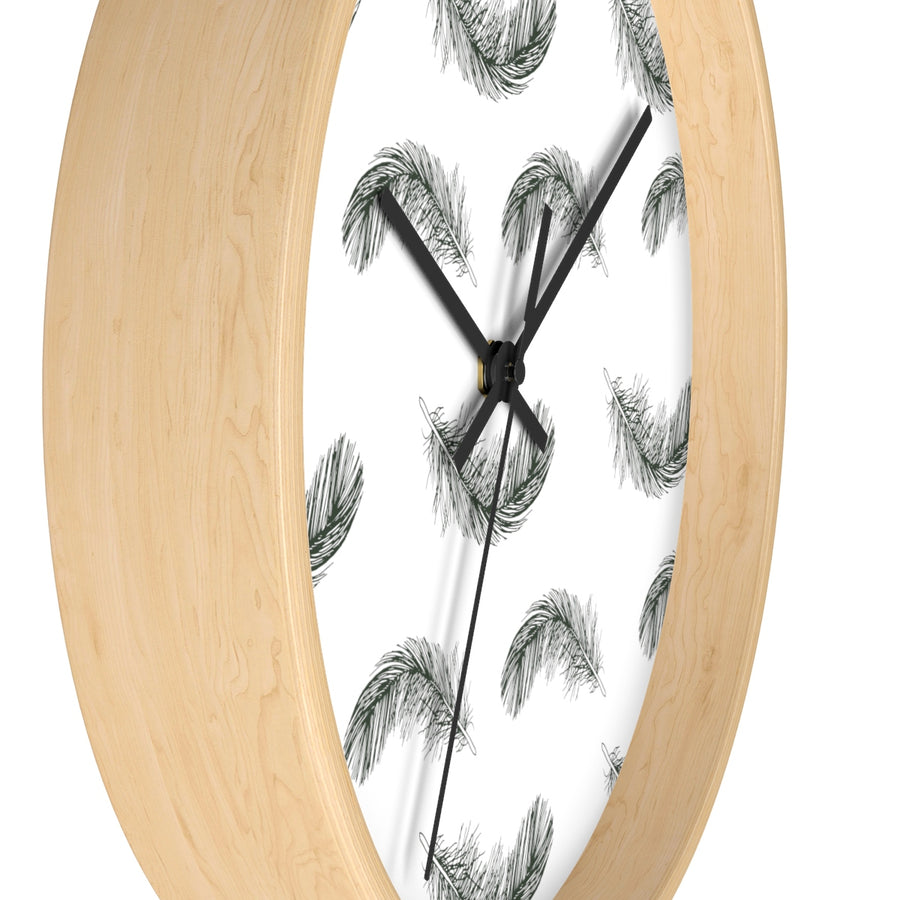 Fluttering Feather Wall clock