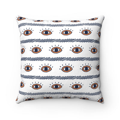 Eye See You Spun Polyester Square Pillow Case - Design Prints