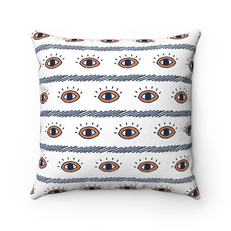Eye See You Spun Polyester Square Pillow Case