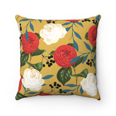 FLORAL OBSESSION Square Pillow - Design Prints