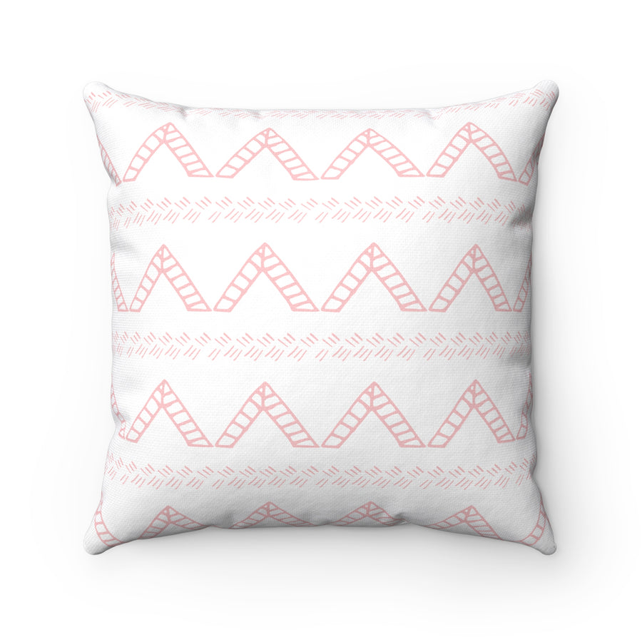 Blush Tent Spun Polyester Square Pillow Case