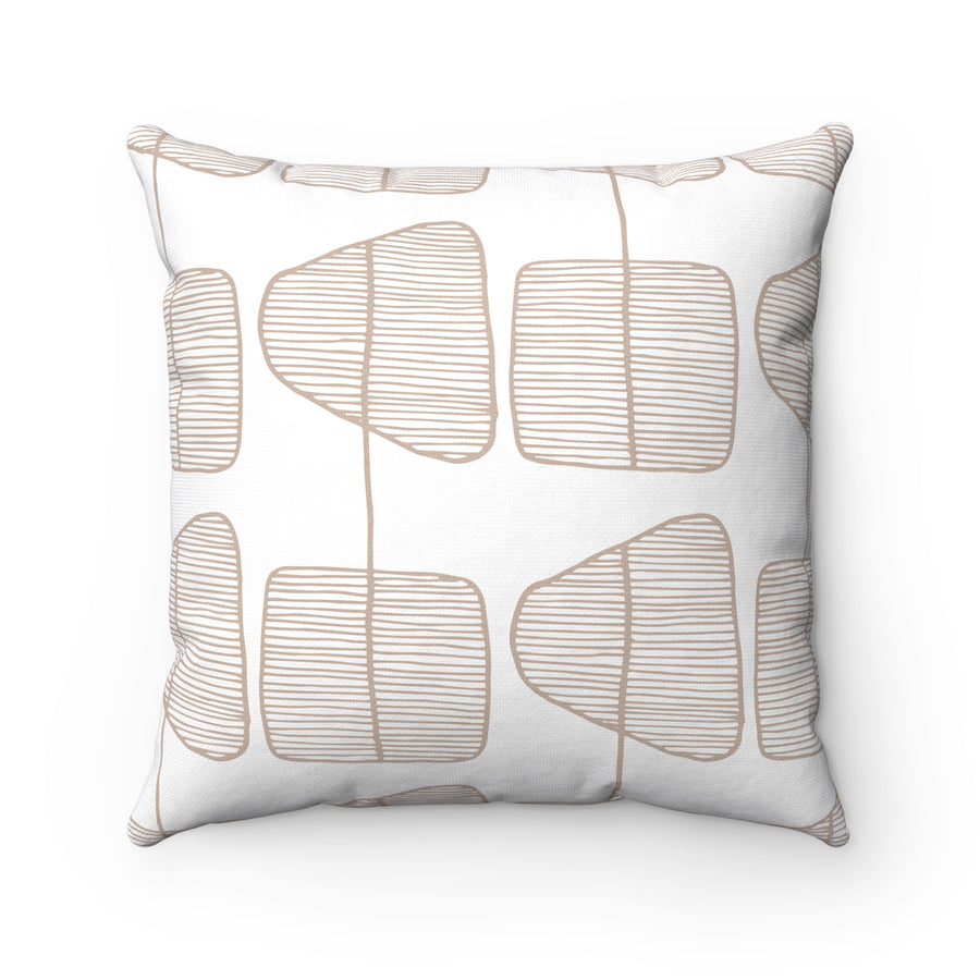 Simple Trees Square Pillow