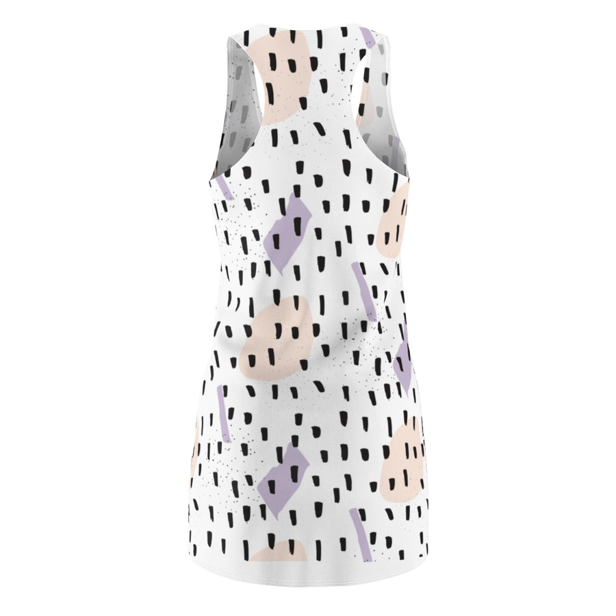 Black Sprinkles Women's Cut & Sew Racerback Dress - Design Prints