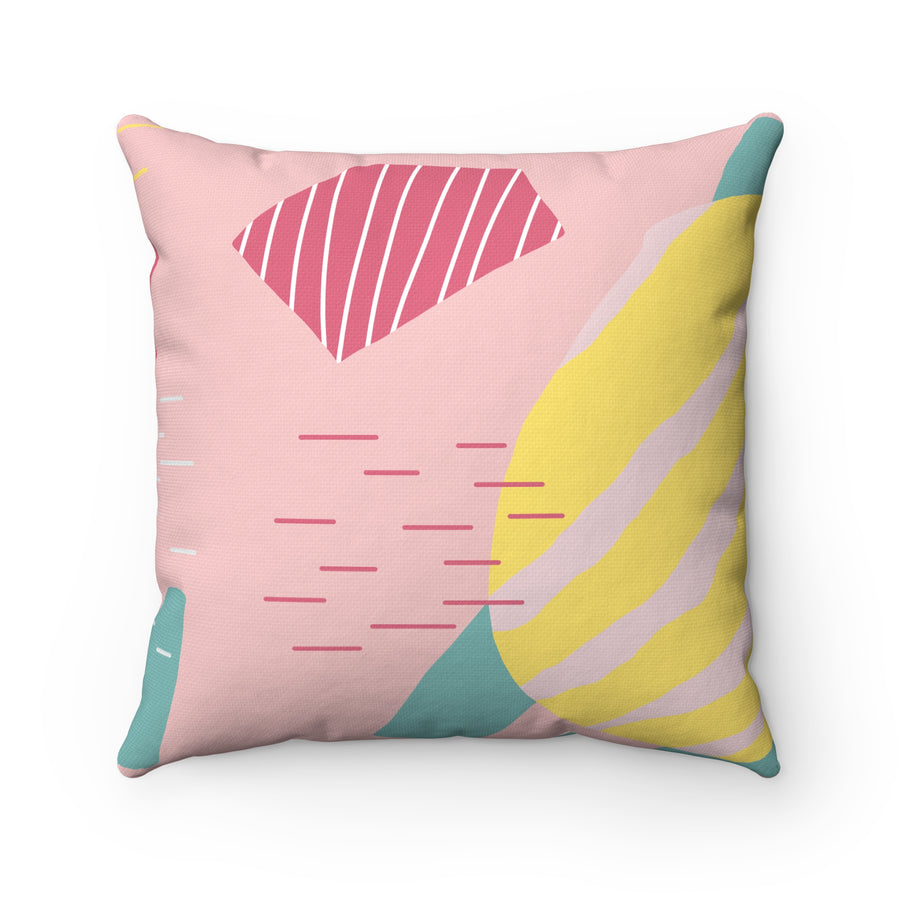 Tennis Ball Spun Polyester Square Pillow Case