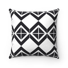 Black Target Spun Polyester Square Pillow Case