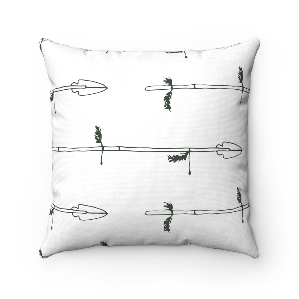 Arrow My Heart Spun Polyester Square Pillow Case
