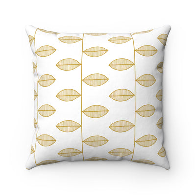 Leaves On Twig Square Pillow - Design Prints