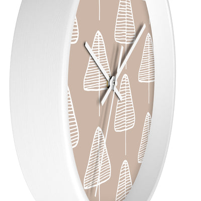 Calm Cone Trees Wall clock - Design Prints