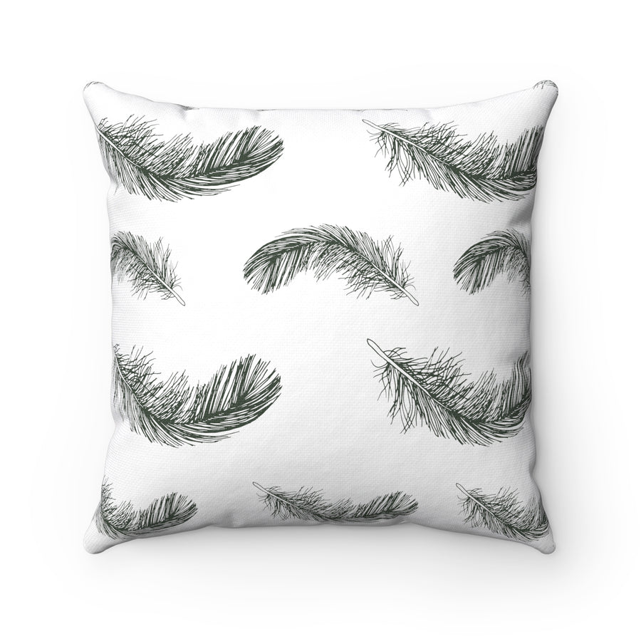 Fluttering Feather Square Pillow