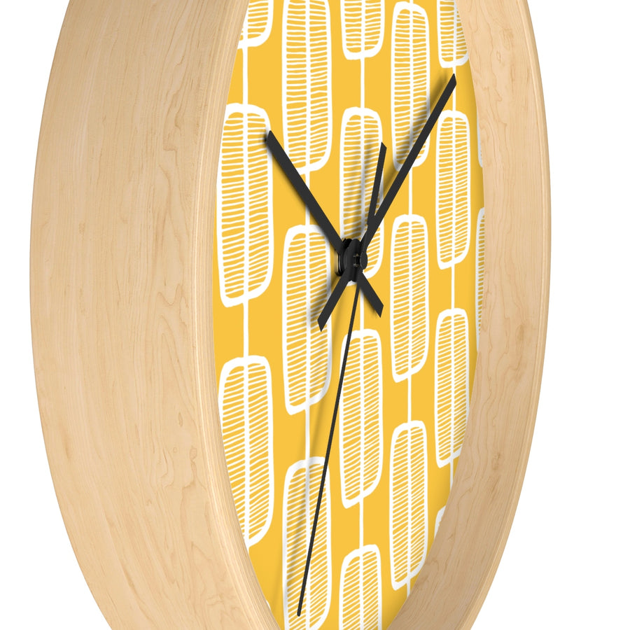Orange Forest Wall clock