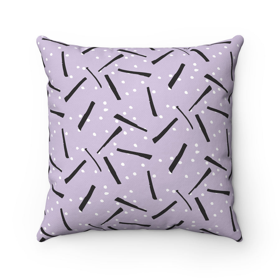 Licorice Spun Polyester Square Pillow Case - Design Prints