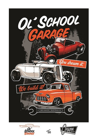 OSG Three Car Stack Limited Edition Print