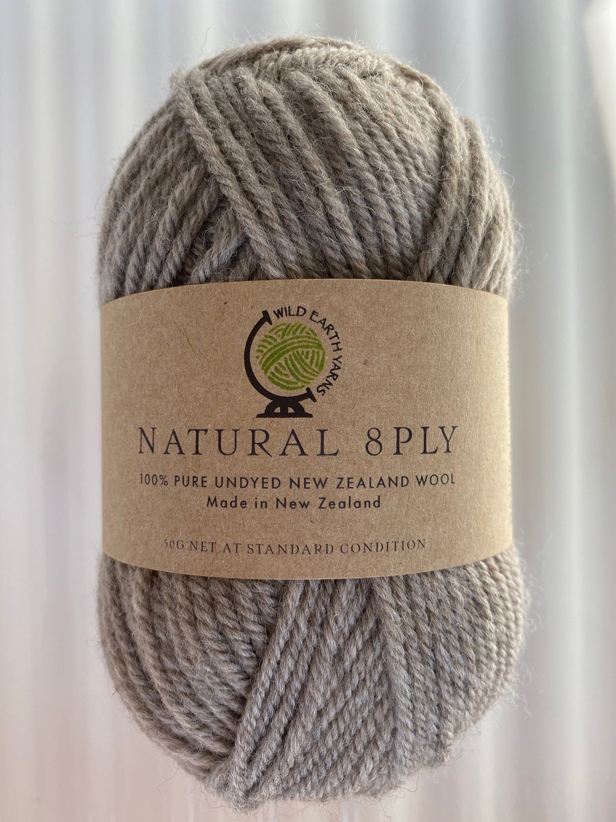 Natural 8-Ply Undyed NZ Wool - Abalone