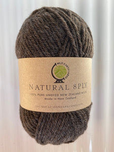 Natural 8-Ply Undyed NZ Wool - Portabello