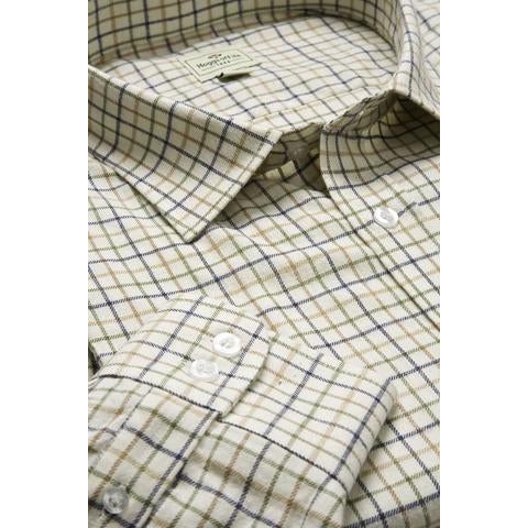 Hoggs of Fife Pure Cotton Tattersall Check Shirts - Men's