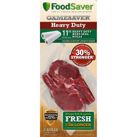 FoodSaver GameSaver Bag Rolls HeavyDuty 11 in. x 12 ft. 2 pk