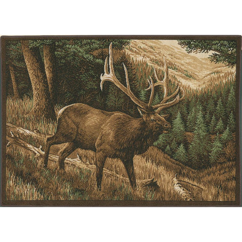 Custom Printed Rug Elk