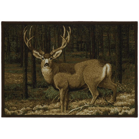 Custom Printed Rug Mule Deer