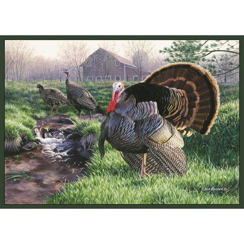 Custom Printed Rug Wild Turkey