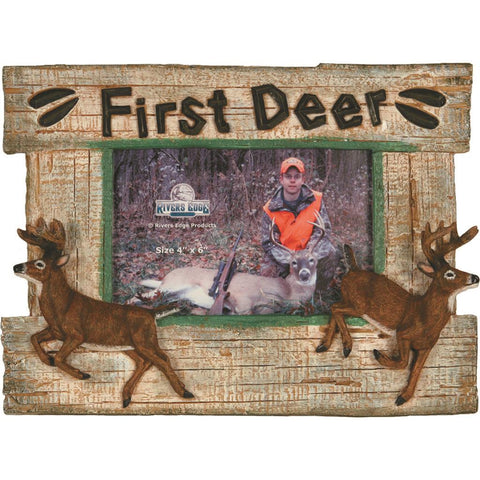 Rivers Edge Photo Frame First Deer