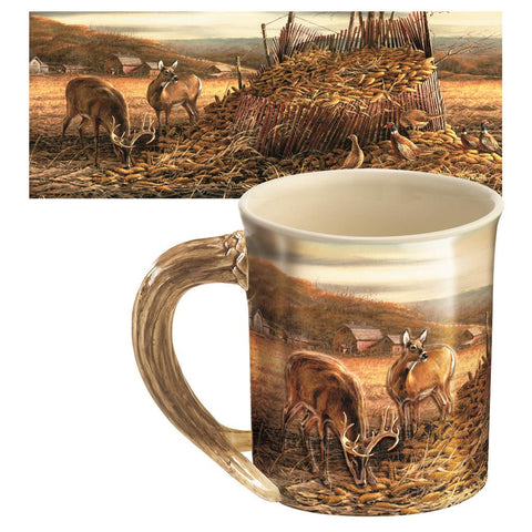 Wild Wings Sculpted Mug Deer and Pheasants