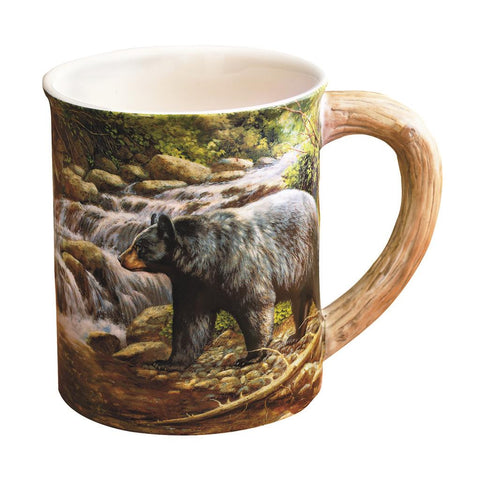 Wild Wings Sculpted Mug Shadow of the Forest Bear