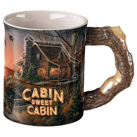 Wild Wings Sculpted Mug Cabin Sweet Cabin