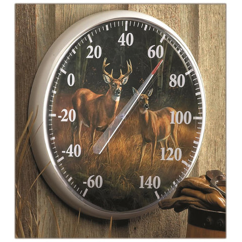 Wild Wings Thermometer Whitetail Deer October Mist