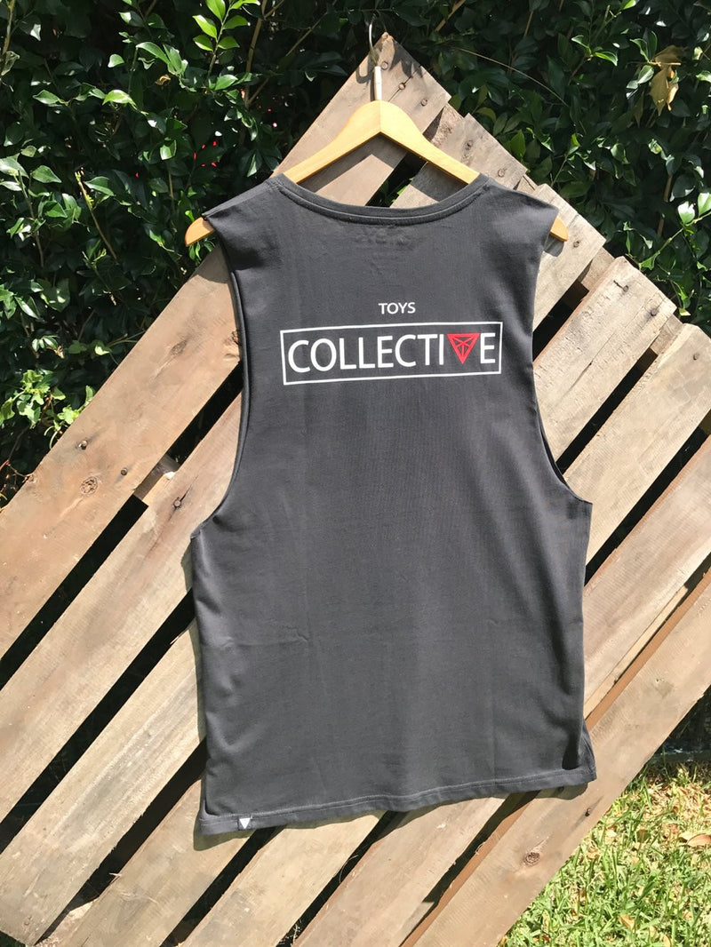 Boxed In Singlet - Charcoal Grey