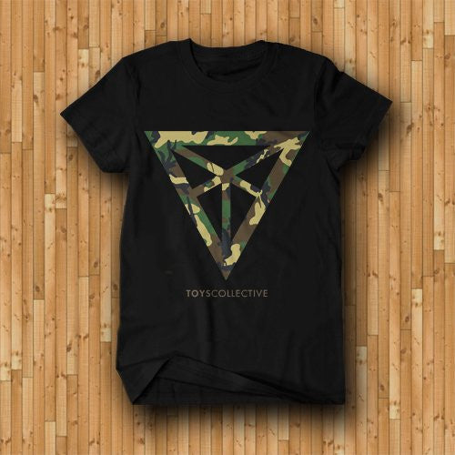 Camo Diamond Tee - Black