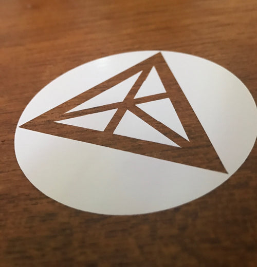 CIRCLE LOGO DIE CUT STICKER