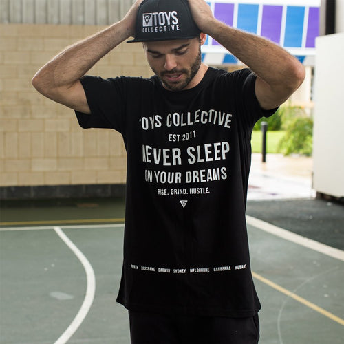Never Sleep Tee - Black