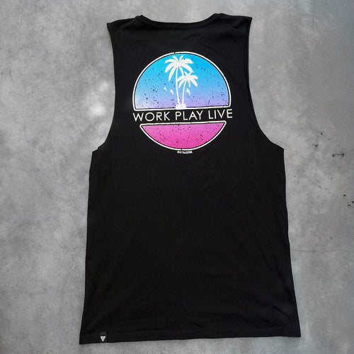 Work Play Live Tall Tank - Black