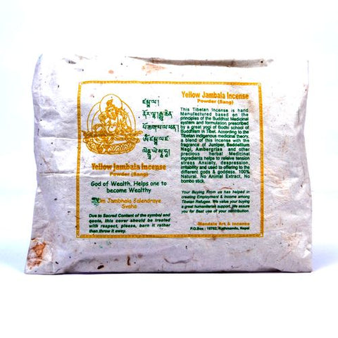 Yellow Jambala Incense Powder - ThirdWorldTrAid
