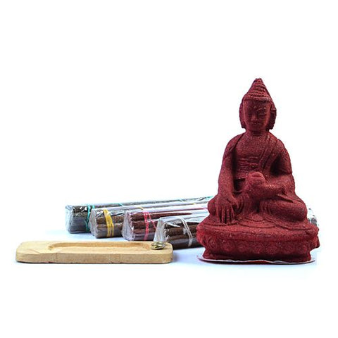 Buddhist Healing Buddha Praying Incense Statue - ThirdWorldTrAid