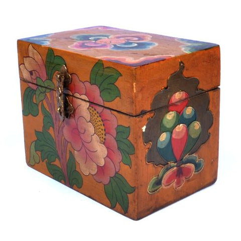 Hand Painted Wooden Incense or Trinket Box - ThirdWorldTrAid