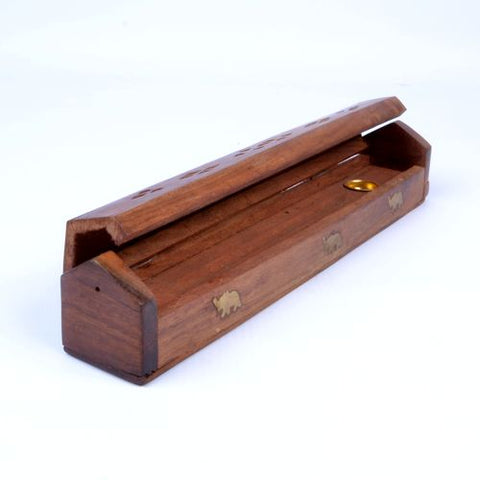 Small Wooden Incense Burning Box - ThirdWorldTrAid
