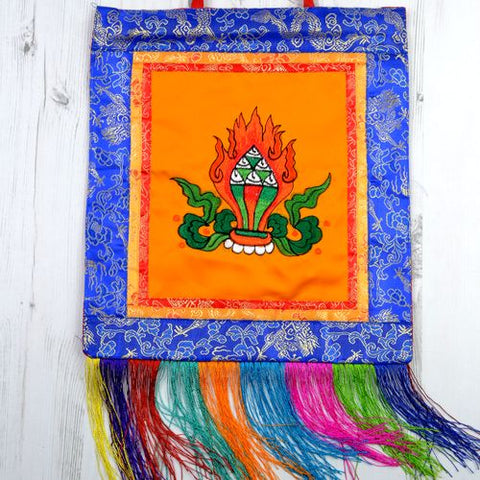 Small Orange Tibetan Ratna Banner Wall Hanging - ThirdWorldTrAid