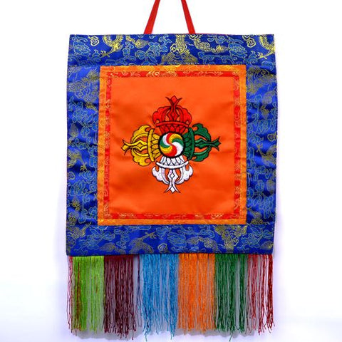 Small Tibetan Visvavajra Banner Wall Hanging - ThirdWorldTrAid