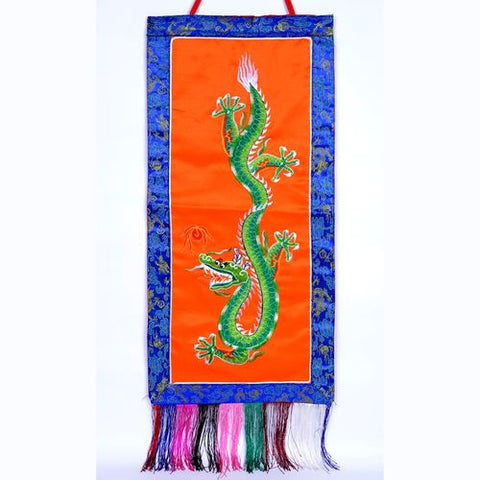 Large Tibetan Buddhist Dragon Banner - ThirdWorldTrAid