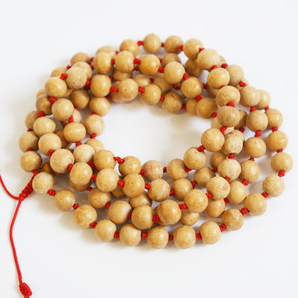 Large Knotted Wooden 108 Mala Beads - ThirdWorldTrAid