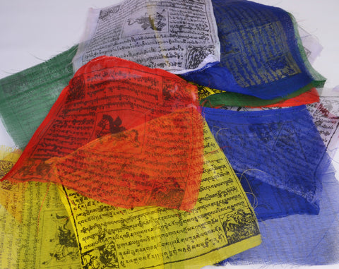 Mini Tibetan Buddhist Prayer Flags Roll