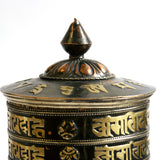 Large 4 Line Om Mantra & Ashtamangalas Prayer Wheel - ThirdWorldTrAid