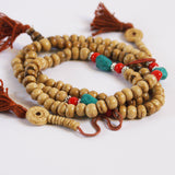 Light Yak Bone 108 Beads 8mm with Tassel - ThirdWorldTrAid