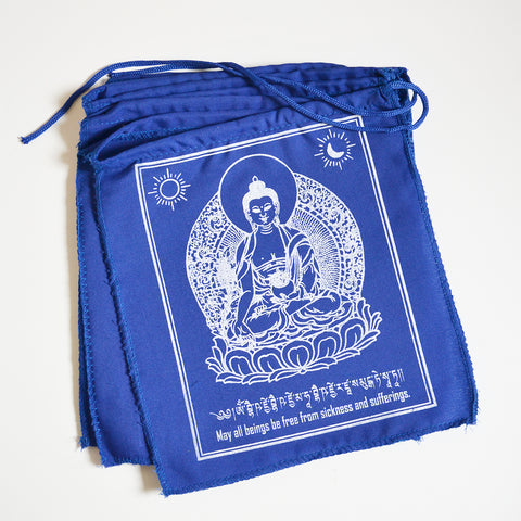 Medicine Buddha Cotton Prayer Flags - ThirdWorldTrAid