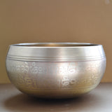 Tibetan Buddhist Singing Bowl Medium Size -  Carved with OM Mantra - ThirdWorldTrAid